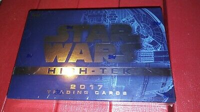 2017 Topps Star Wars HIGH TEK  (8) Card Hobby Box 1 Autograph Chase #/ parallels