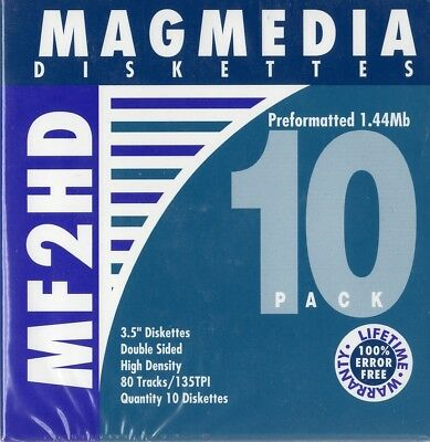 MAGMEDIA Diskettes MF2HD 10 PK Sealed