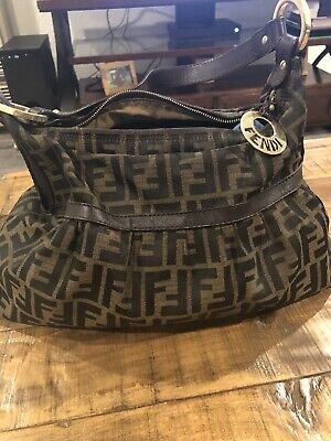 Authentic Fendi Tobacco Zucca Chef Hobo Shoulder bag...dust Bag Included bd6b65d812fe4