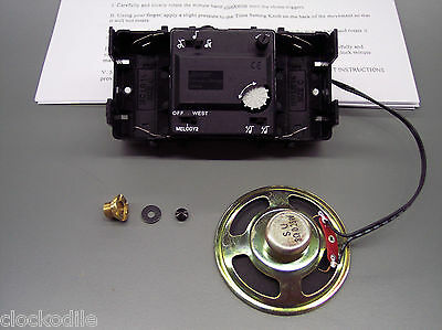 "3/4"" Shaft HOWARD MILLER KIENINGER Mantle CLOCK MOVEMENT KIT -(Hermle 2115 2114)"