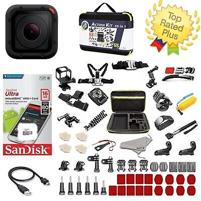 GoPro HERO4 Session + Carrying Case Sports Accessories Kit Bundle (50+ PCS)