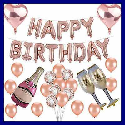 30Th Birthday Decorations ROSE GOLD Themed Supplies W HAPPY BIRTHDAY Letter LARG