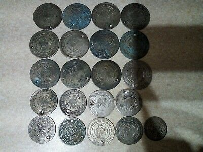 Old silver large Turkish coins 21 pieces 1800-1900 year