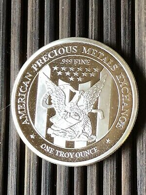 .999 Fine Silver - Patriot Eagle Round - 1 Troy Oz - APMEX