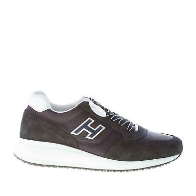 prix compétitif a486f 7bf99 HOGAN CHAUSSURES HOMME Interactive N20 blue denim suede and tech fabric  sneaker