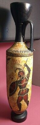 Replica Greek Vase Geometric Pottery Ceramists Hand Painted Gods Vintage