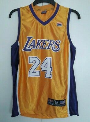 on sale d0673 4f31b VINTAGE KOBE BRYANT Los Angeles Lakers Jersey Vest NBA LA USA Basketball  Fed M