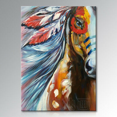 YA963 Modern 100% Hand-painted oil painting Horse Home Home Decor art