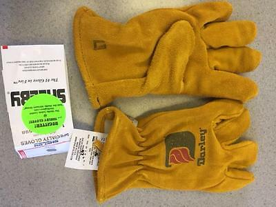 """Shelby Darley Firefighting Gold Gloves Nfpa """"new"""" Size Xl"""