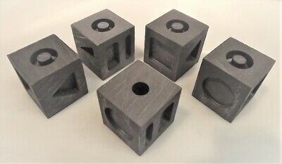 7-In-1 Graphite Molds: 7 Different Gold/silver Ingots On Cube: Traditional Style