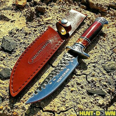 """10"""" Luxury Knife Fixed Blade Hunting Tactical Survival Combat W/ Leather Sheath"""