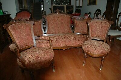 Antique sofa, with Master and Nursing Chairs set.