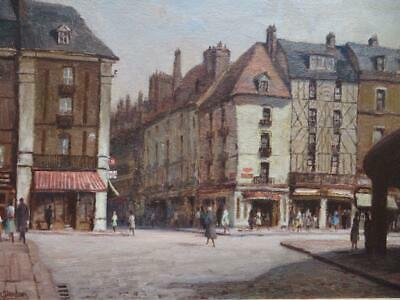KENNETH DENTON RSMA 'DIEPPE' original SIGNED FRENCH IMPRESSIONIST Oil Painting