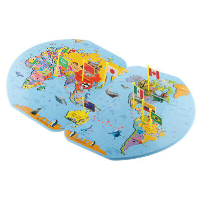 EDUCATIONAL INSIGHTS WORLD Foam Map Puzzle - $27.48 | PicClick