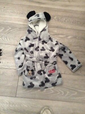 bnwt mickey mouse babys dressing gown age 6/9 mths
