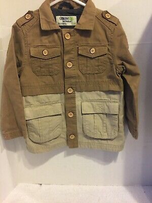 GENUINE KIDS OSHKOSH BOY BROWN BUTTON JACKET TODDLERS 3T Shirt