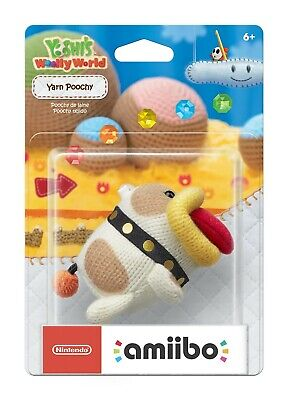 Yarn Poochy Amiibo Card ☆ Yoshi's Woolly World NFC Tag - No Figure