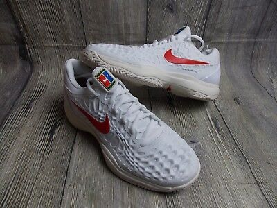 NIKE AIR ZOOM CAGE 3 TENNIS SHOES MENS BN £115 8uk RAFA WIMBLEDON TRAINERS WHITE