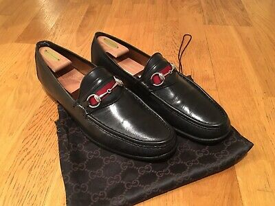 517d63c7ff2 GUCCI MENS SHOES horsebit loafers 12 Black -  229.50