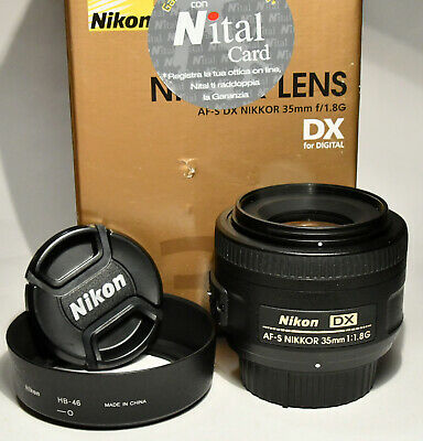 NIKON  DX AF-S 35mm f1,8G con box + Filtro Nikon originale Slylight