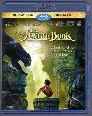 The Jungle Book (Blu-ray/DVD, 2016, ) Live Action Disney Movie