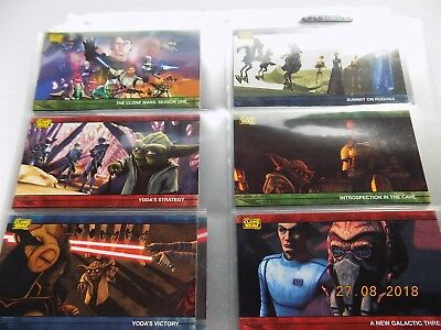 Topps Star Wars Clone Wars Widevision cards - Full set of 80 + Previews PV1-PV8