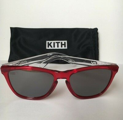 11acb59ac0 Oakley x Kith Coca-Cola Red Clear Frogskin Prizm Sunglasses SOLD OUT