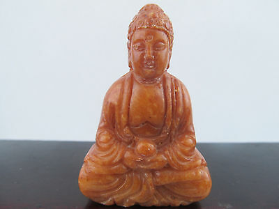 Old Chinese ancient Green Jade Hand-carved Buddha Statue Worth collecting