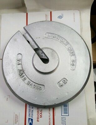 40 LB Calibration Weight, Slotted Interlocking  class 6