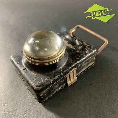 VINTAGE c.1930's FRENCH BATTERY-OPERATED BICYCLE TORCH LANTERN FLASH LIGHT