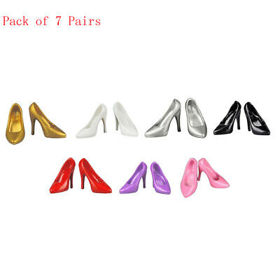 1/6 Scale Lady High Heels Shoes 7Pair for 12'' Phicen Hot Toys Action Figure