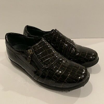 c6e7b775d Helle Comfort Womens Shoes US Size 6 6.5 UK 37 Loafers Black Patent Leather