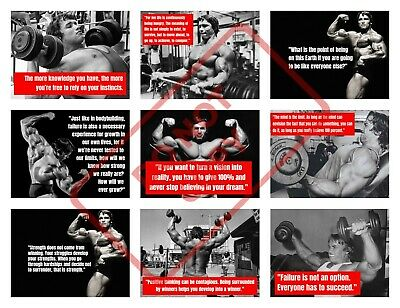 ARNI QUOTE POSTER PRINTS - Arnold Schwarzenegger Gym Motivation BODYBUILDING