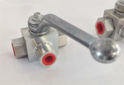 """3 WAY VALVE HYDRAULIC 3/4"""" BSPP 'L'  350Bar  Made in Italy, FREE POST AUSTRALIA!"""