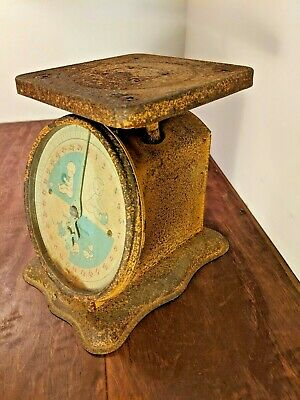 Vintage Working Metal Nursery Baby Scale 0-30 pounds by ounces