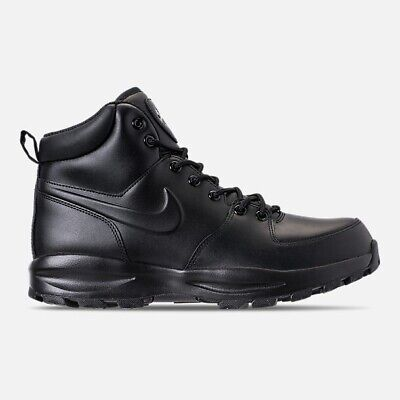 Nike Manoa Leather Triple Black Boots New Men's Size 7.5
