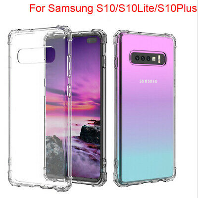 Clear Silicone Soft TPU Case Cover Protective For Samsung Galaxy S10Plus S10Lite