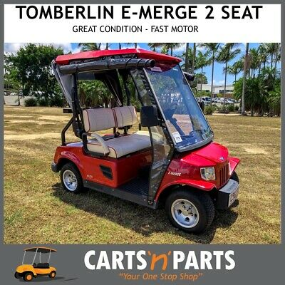 Tomberlin E-Merge 2 Seat Red Golf Cart Buggy Strong Fast Motor Great Condition C