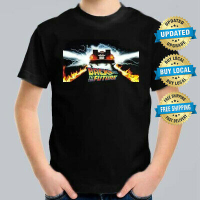 Back to the Future Kids T-Shirt Kid Retro Sci-Fi Movie Tee Size 0-16
