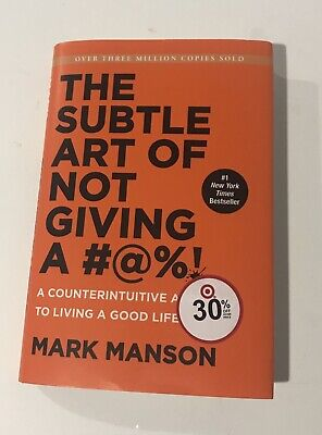 Rare Cover Title - The Subtle Art of Not Giving a F*ck By Mark Manson New