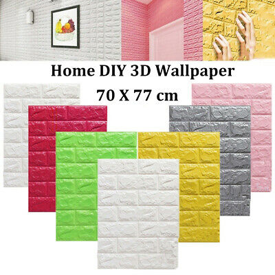 Embossed Brick Pattern Home Decoration Wall Stickers Self Adhesive 3D Wallpaper