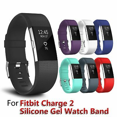 Fitbit Charge 2 Replacement Sports Band Strap Silicone Wrist Watch Bands USA SLR