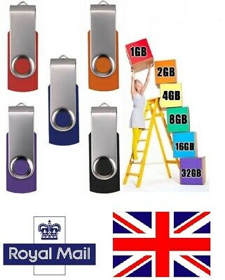 UK - Flash Drives 64MB 5 Pack in Bulk USB 2.0 Thumb Pen Jump Memory Stick Drive