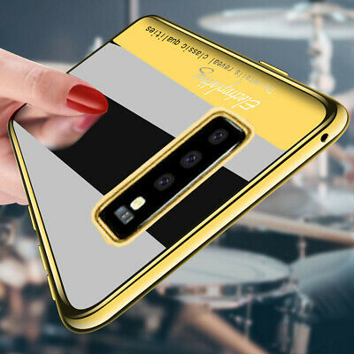 Shockproof Plating Rubber Soft Clear Case Cover For Samsung Galaxy S10+ S10e S10