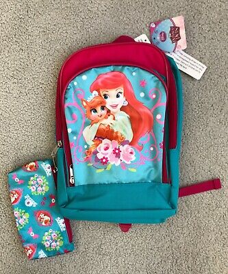 d96b06aea3c Disney Palace Pets Turquoise Blue Ariel Backpack With Pencil Case