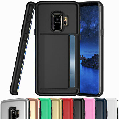 Shockproof Case Card Slot Holder Wallet Cover for Samsung Galaxy S7 Edge S8 S9+
