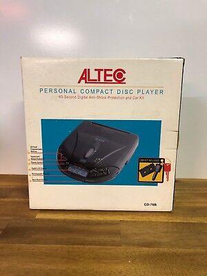 Altec CD-76B Personal Compact Disc CD Player Anti-Shock Protection And Car Kit
