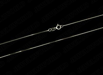"""Real 10K Solid Yellow Gold Italian Box Chain Necklace 16"""" - 30"""" inches"""