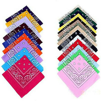2 For $3.5 100% COTTON Paisley Head Wrap Bandana Scarf Durag Headwrap Mask Black