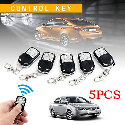 5x Universal Replacement Garage Door Car Gate Cloning Remote Control Key Fob 433